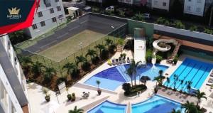 Apartamentos com sala, um quarto, varanda a venda no Veredas do Rio Quente Flat Service